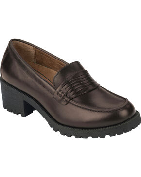 Eastland Women's Brown Newbury Penny Loafers, Brown, hi-res