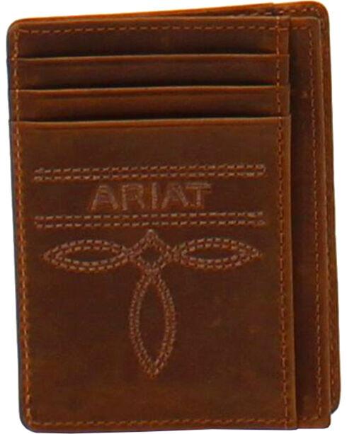 Ariat Men's Leather Card Case , Medium Brown, hi-res