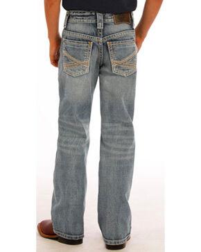 Rock & Roll Cowboy Boys' Blue Abstract Jeans - Boot Cut, Blue, hi-res