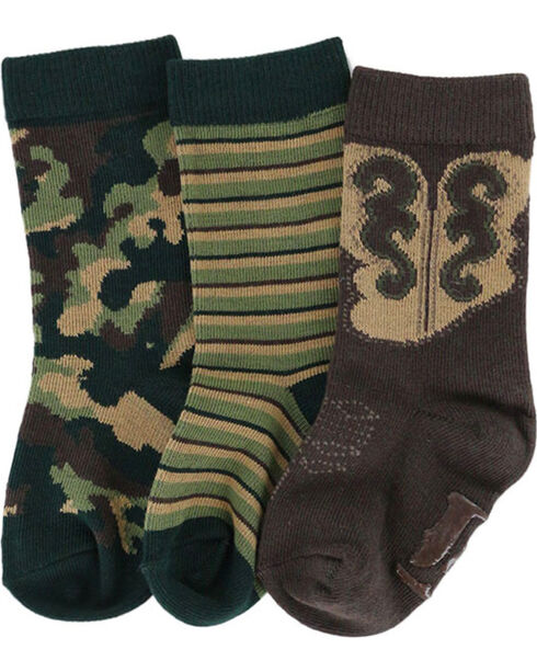 Lil' Boot Barn® Boys' Pattern Sock Set, Multi, hi-res