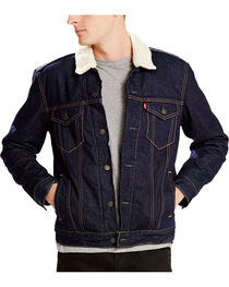 Levi's Men's Sherpa Denim Trucker Jacket, , hi-res