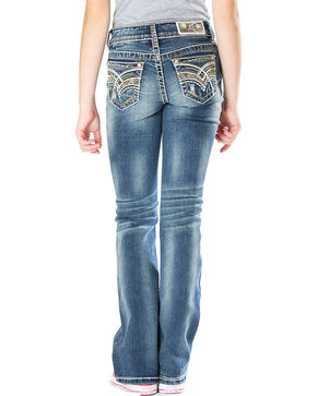 Grace in LA Girls' Indigo Real Tree Jeans (7-16) - Boot Cut , Indigo, hi-res