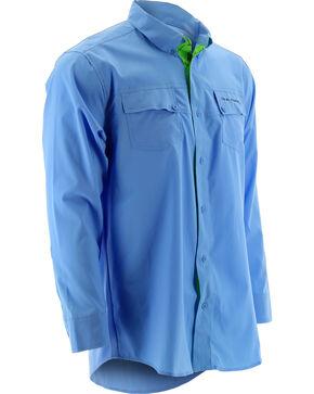 Huk Performance Fishing Men's Phenom Long Sleeve Shirt , Blue, hi-res