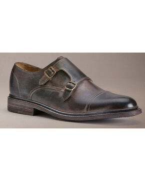 Frye Men's James Double Monk Shoes, Dark Brown, hi-res