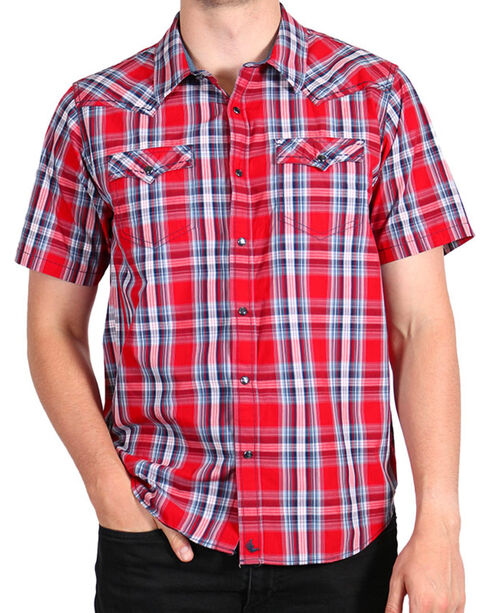 Cody James® Men's Lava Short Sleeve Shirt, Red, hi-res