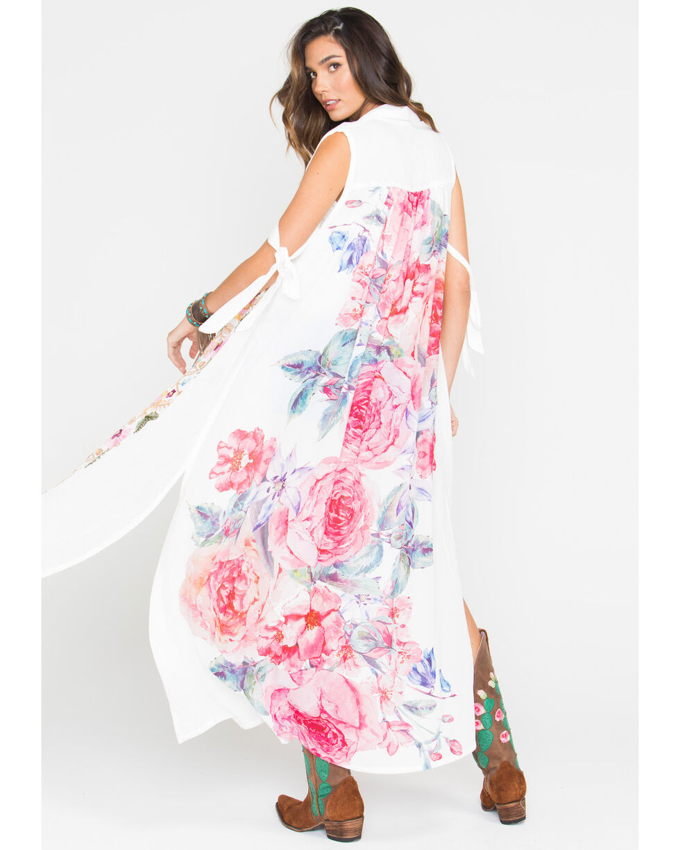Aratta Women's Flower Of Love Dress, White, hi-res