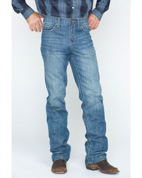 Cody James® Men's Whip Stitch Boot Cut Jeans, Blue, hi-res