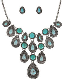 Shyanne® Women's Teardrop Concho Jewelry Set, , hi-res