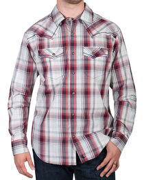 Cody James Men's Gold Nugget Long Sleeve Plaid Western Shirt, , hi-res