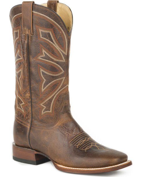 Stetson Men's Brown Chester Western Boots - Square Toe , , hi-res