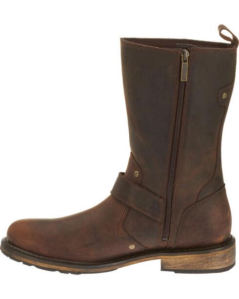 Harley Davidson Men's Brown Brendan Leather Boots - Round Toe , Brown, hi-res