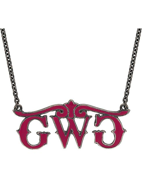 Girls With Guns Logo Necklace, Silver, hi-res