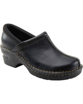 Eastland Women's Black Kelsey Slip On Clogs , Black, hi-res