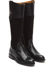 Frye Women's Black Suede Jayden Button Tall Boots , , hi-res