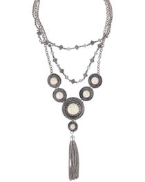 Shyanne® Women's Concho Layered Tassel Necklace, , hi-res