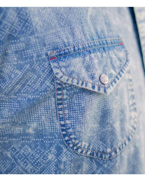 Ryan Michael Men's Long Sleeve Telegraph Indigo Shirt, Indigo, hi-res
