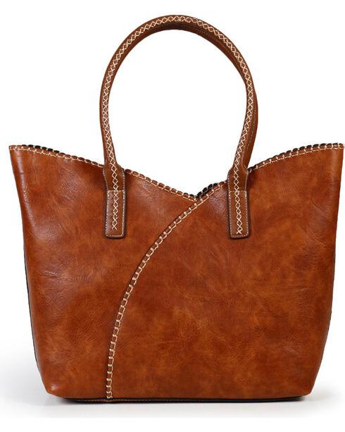 Shyanne® Women's Whip Stitch Shoulder Bag, Brown, hi-res