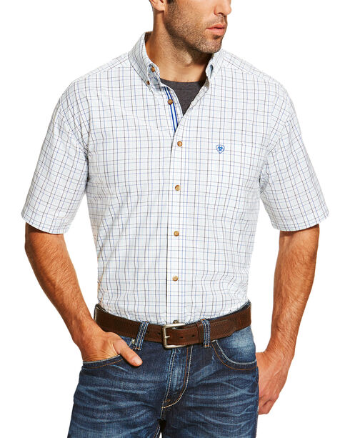 Ariat Men's Irby Short Sleeve Shirt, White, hi-res