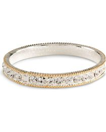 Montana Silversmiths Women's Crystal Shine Bangle Bracelet, , hi-res