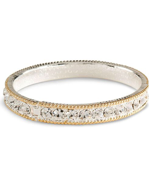 Montana Silversmiths Women's Crystal Shine Bangle Bracelet, Silver, hi-res