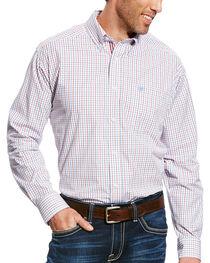 Ariat Men's White Chapman Print Long Sleeve Shirt - Big & Tall , White, hi-res