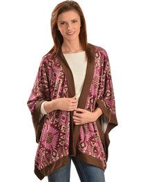 Wrangler Rock 47 Women's Tribal Kimono Style Cardigan, , hi-res