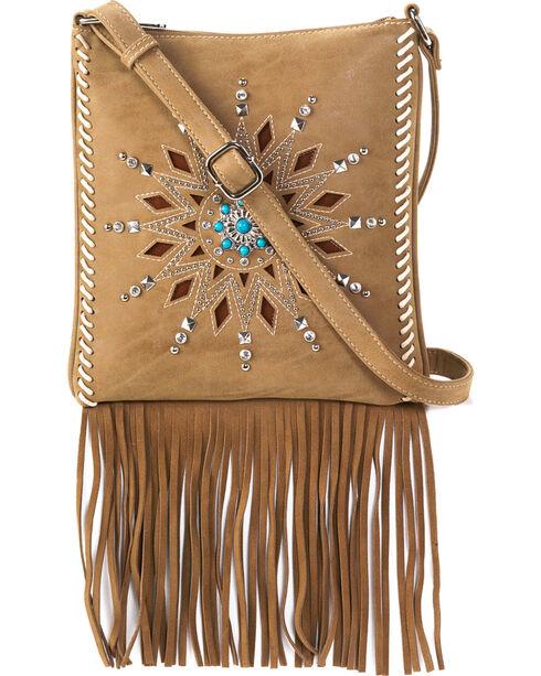 Blazin Roxx Women's Stella Fringe Messenger Bag, Brown, hi-res