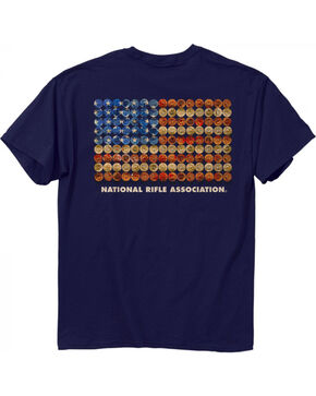 Buck Wear Men's NRA Shot Gun Flag T-Shirt, Navy, hi-res