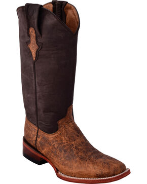 Ferrini Women's Comanchero Brown Cowgirl Boots - Square Toe, Brown, hi-res