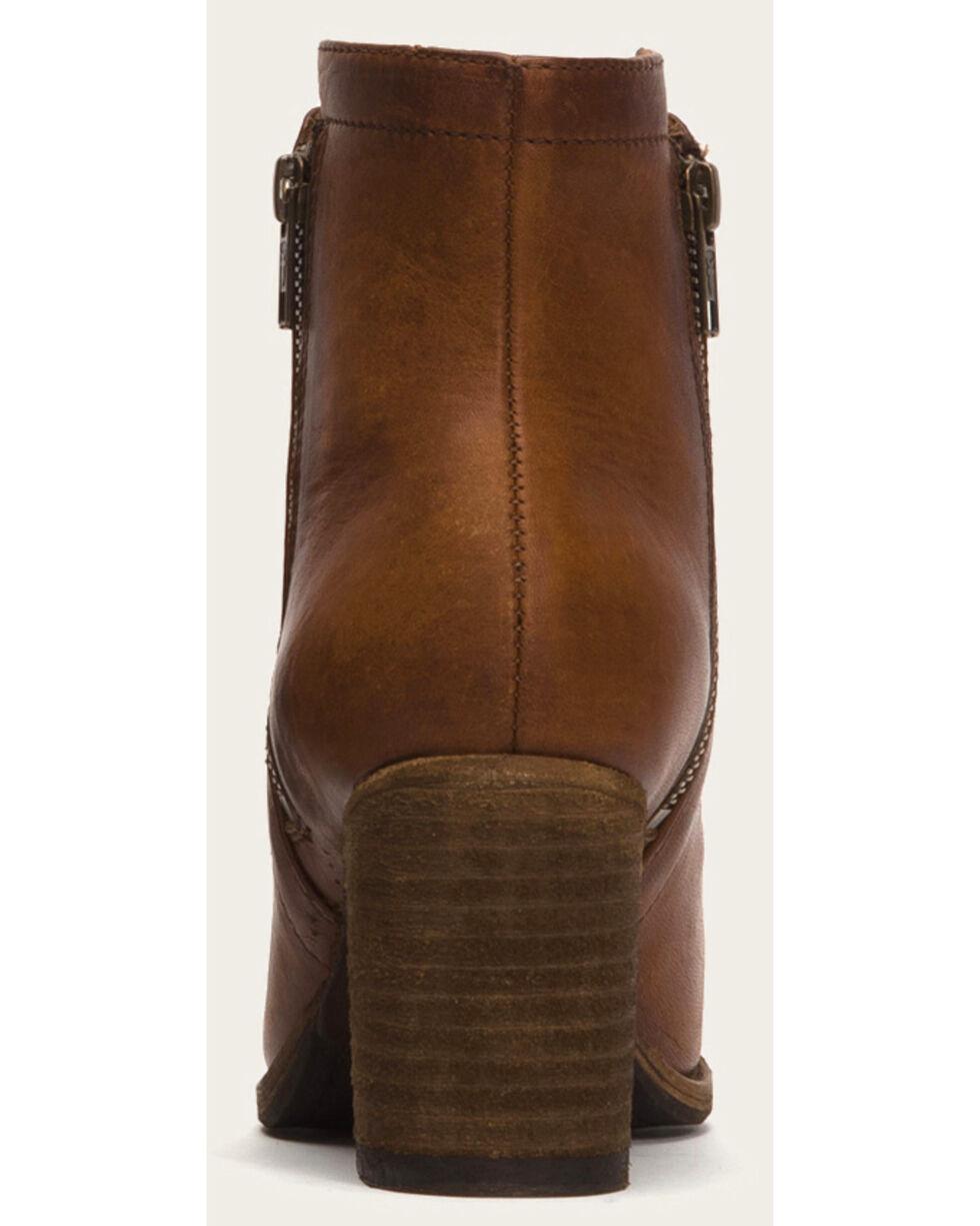 Frye Women's Addie Cognac Double Zip Boots - Round Toe , Cognac, hi-res