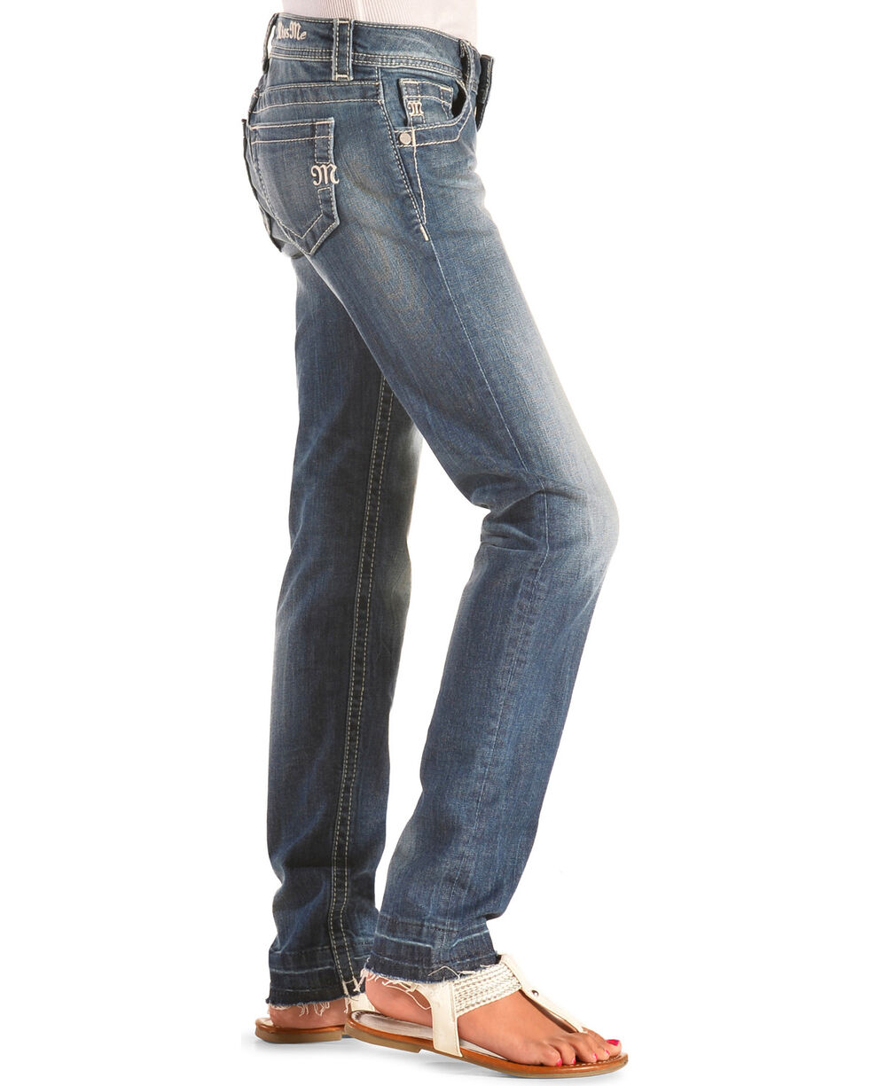 Miss Me Girls' Basic Skinny Jeans , Indigo, hi-res
