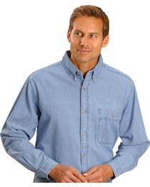 Wrangler Men's Rugged Wear Denim Shirt, , hi-res