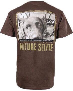 Nature Selfie Men's Goosecreek Lake Short Sleeve Tee, Chocolate, hi-res