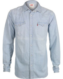 Levi's Men's New Age Bleach Denim Long Sleeve Western Shirt, , hi-res