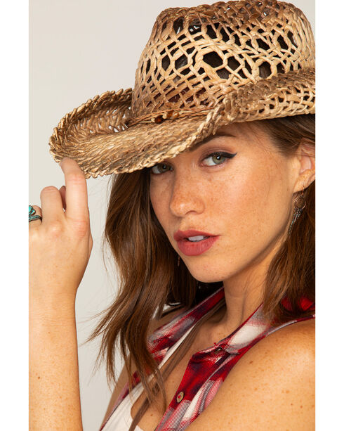 Shyanne® Women's Ombre Weave Straw Hat, Natural, hi-res