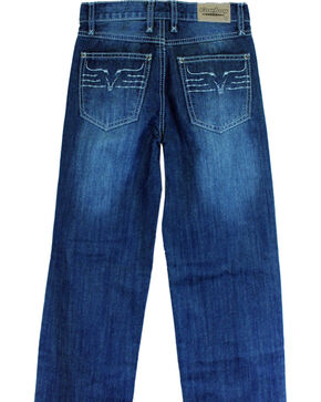 Cowboy Hardware Toddler Boys' King Steer Dark Wash Jeans (5-6), Dark Blue, hi-res