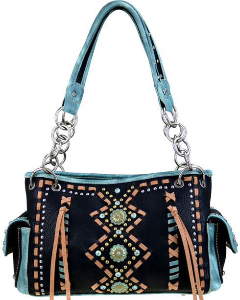 Montana West Women's Geometric Concealed Carry Handbag , , hi-res