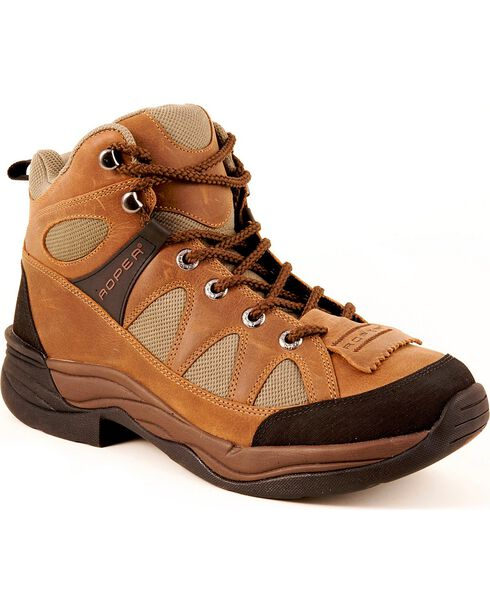 Roper Men's Horseshoe III Hiking Shoes, Tan, hi-res