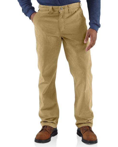 Carhartt Men's Rugged Work Khaki Pants, Khaki, hi-res