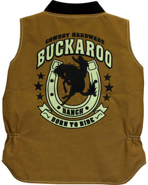 Cowboy Hardware Toddler Boys' Buckaroo Canvas Vest (12MO-4T), Tan, hi-res