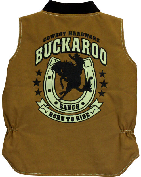 Cowboy Hardware Toddler Boys' Buckaroo Canvas Vest (12MO-4T), Tan, hi-res