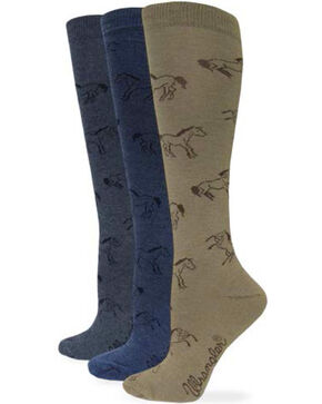 Wrangler Women's Horse Boot Socks, Denim, hi-res