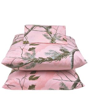 Realtree All Purpose Pink Full Sheet Set, Pink, hi-res