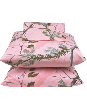 Realtree All Purpose Pink Queen Sheet Set, Pink, hi-res