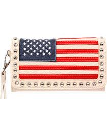 Blazin Roxx Women's American Flag Clutch , , hi-res
