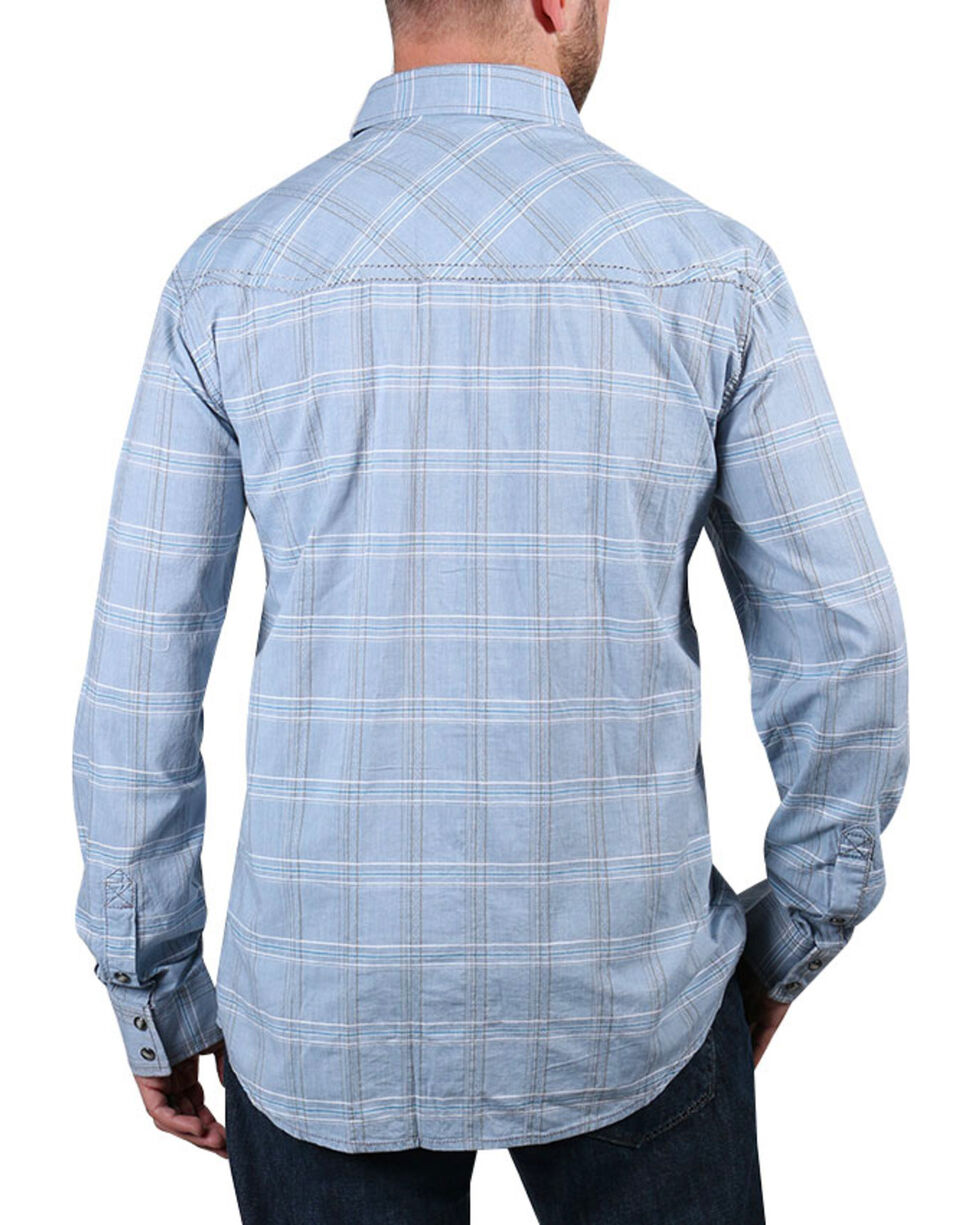 Moonshine Spirit® Men's El Cortez Plaid Long Sleeve Shirt, Light/pastel Blue, hi-res