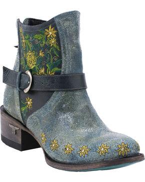 Lane Women's Boho Love Denim Western Booties, Turquoise, hi-res