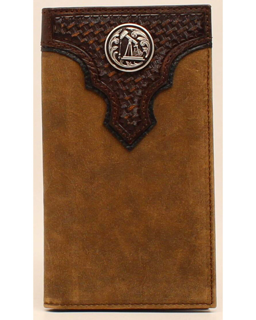 Ariat Oil Rig Concho Rodeo Wallet, Aged Bark, hi-res