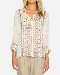 Johnny Was Women's Cream Cenote Button-Down Shirt , , hi-res