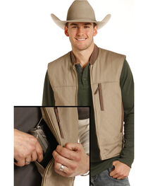Powder River Outfitters Men's Brushed Twill Conceal And Carry Vest, , hi-res